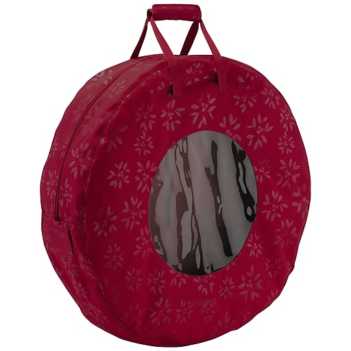 Classic® Accessories Seasons Large Wreath Storage Bag, Cranberry