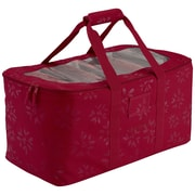 "Classic® Accessories Seasons 24""(L) x 12""(W) x 12""(H) Holiday Lights Storage Duffel, Cranberry"