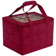 "Classic® Accessories Seasons 16""(L) x 13""(W) x 12""(H) Ornament Organizer and Storage Bin, Cranberry"