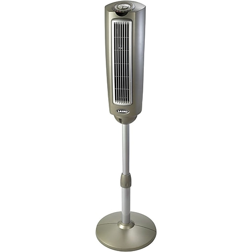 "Lasko 52.75"" 7-Speed Oscillating Pedestal Fan, Silver (2535)"