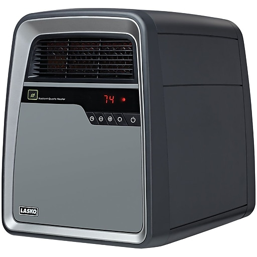 Lasko® 6101 1500 W Cool Touch Infrared Quartz Heater; Gray