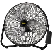"Lasko® 655650 20"" High Velocity Remote Control Stanley Floor Fan, Black"