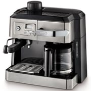 Delonghi 10 Cup Programmable Combination Espresso and Drip Coffee Maker, Stainless Steel (BCO330T)