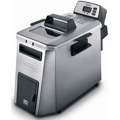Delonghi 3 lbs. Dual Zone Deep Fryer With Digital Timer