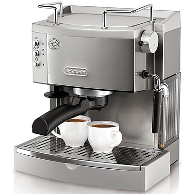 Delonghi EC702 Pump Espresso Maker, Black/Silver