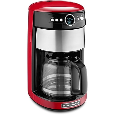 KitchenAid® KCM1402 14 Cup Glass Carafe Coffee Maker, Empire Red