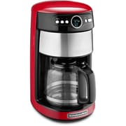 KitchenAid KCM1402 14 Cup Glass Carafe Coffee Maker, Empire Red by