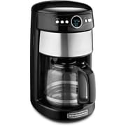 KitchenAid KCM1402 14 Cup Glass Carafe Coffee Maker, Onyx Black by