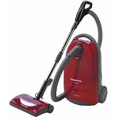 Panasonic® Canister Vacuum Cleaner With HEPA Filter, Burgundy