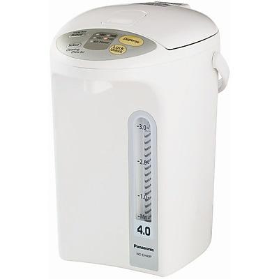 Panasonic® 4.2 Quart Electric Thermo Pot, White With Silver Trim