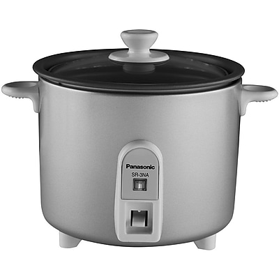 Panasonic 1.5 Cup Mini Rice Cooker With Glass Lid, Silver 206202