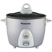 Panasonic® 3 Cup Automatic Rice Cooker With Steamer, Silver