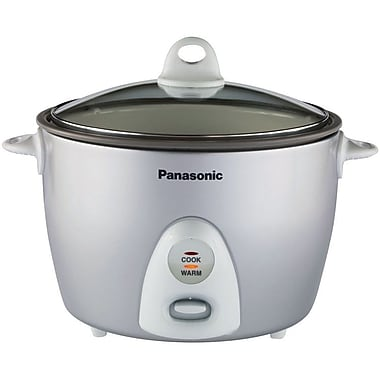 Panasonic® 10 Cup Automatic Rice Cooker With Steamer, Silver