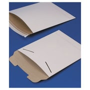 "Fiberboard Self-Seal Shipping Mailer, 9-3/4"" x 12-1/4"", White, 100/Pack"