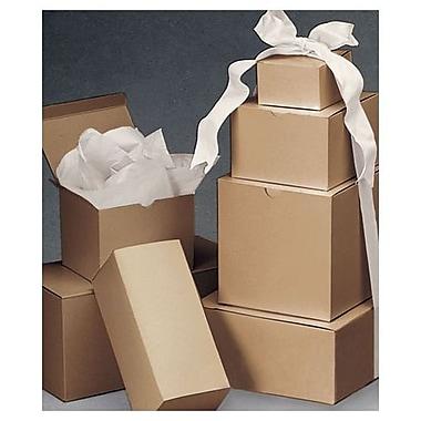 Ensemble de boîtes-cadeaux rayées d'une pièce, kraft, 120/paquet