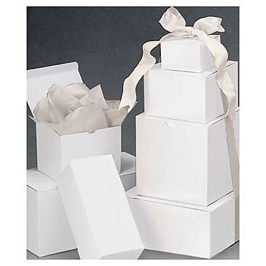 Ensemble de boîtes cadeaux d'une pièce, blanc, 120/paquet