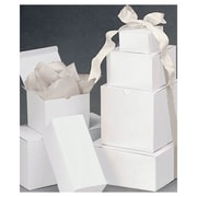 Paper Assortment Gift Boxes, White, 120/Pack