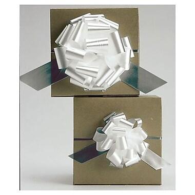 Nœud parfait en satin, 4 po. Blanc, 50/paquet