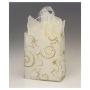 Sacs givrés étoilés aux poignées flexibles, 8 x 4 x 10 po, transparent, 100/paquet