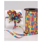"3/8"" x 250 yds. Curling Crazy Stripes Ribbon"
