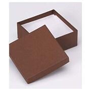 "3 1/2"" x 3 1/2"" x 1 1/2"" Jewelry Boxes, Cocoa"