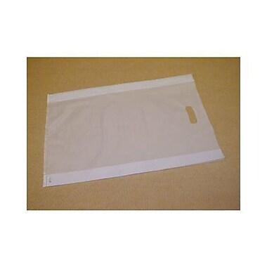 Sacs à articles à haute densité givrés, 14 x 3 x 21 (po), transparent, 500/paquet