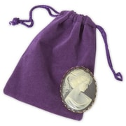 "Fabric 4""H x 3""W Solid Pouch, Purple, 100/Pack"
