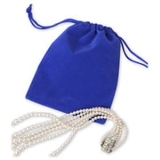 """Fabric 5.5""""H x 4""""W Solid Velvet Pouch, Blue, 100/Pack"""