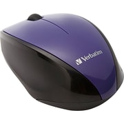 Verbatim Wireless Multi-Trac Blue LED Optical Mouse, Purple (97994)