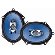 """Pyle® PL683BL 6"""" x 8"""" 360 W Three-Way Speakers, Blue"""