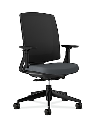 HON Lota Fabric Computer and Desk Office Chair, Adjustable Arms, Charcoal (2281VA19T.COM)