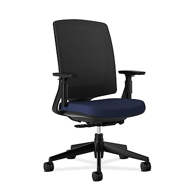 HON Lota Fabric Computer and Desk Office Chair, Adjustable Arms, Navy (2281VA90T.COM)
