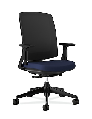 HON Lota Task/Computer Chair, Fabric, Navy, Seat: 19 1/2