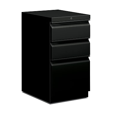 HON Brigade 3 Drawer Mobile/Pedestal File, Black,Letter, 15''W (H33720RP)