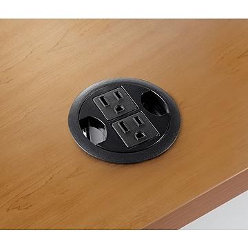 """HON® Power Grommet Hub, Black, 3"""" (Dia)"""