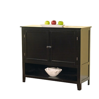 TMS Montego Engineered Wood Buffet; Black