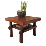 "TMS Koreana 18"" x 24"" x 24"" Solid Wood/MDF End Table, Dark Walnut"