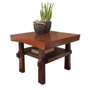 "TMS Koreana 18"" x 24"" x 24"" Solid Wood/MDF End Table, Dark Walnut"