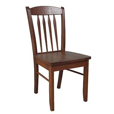 TMS Savannah Rubberwood Side Chair, Cherry