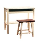 TMS Madison Standard Study Desk with Stool, White/Oak (45520WHO)