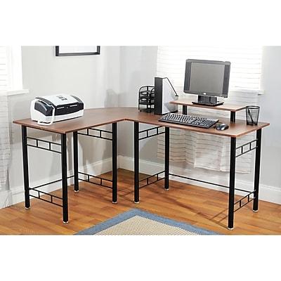TMS Engineered Wood Corner Computer Desk, Espresso