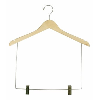 Wood Economical Concave Display Hanger With 10