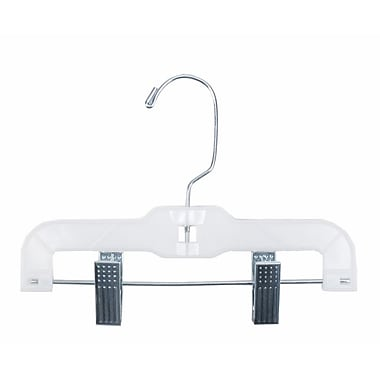 Plastic Hi-Impact Super Heavy Weight Hanger With Metal Clips, White