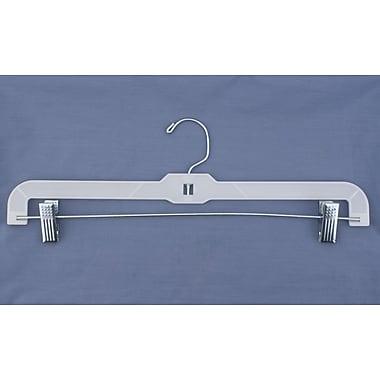 Plastic Hi-Impact Heavy Weight Skirt/Slack Hanger, White, 16