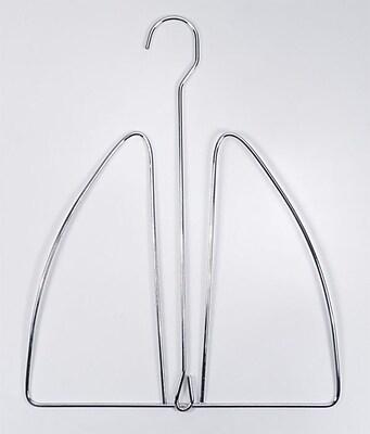 NAHANCO Metal Hat Hanger, Brushed Chrome Hook, 100/Pack