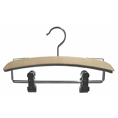 Beech Wood Intimate Apparel Hanger, Chrome Hook, 11 7/8