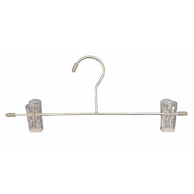 Plastic Tipped Intimate Apparel Bottom Hanger, Chrome Hook, Grey