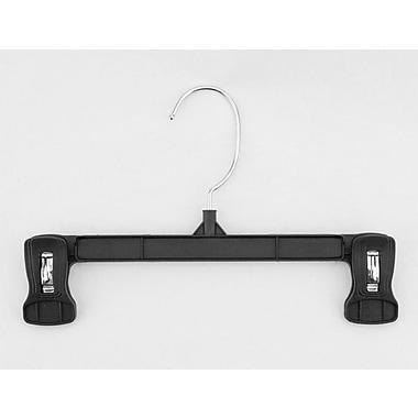 Plastic Pinch Grip Skirt/Slack Hanger, Swivel Hook, Black, 10
