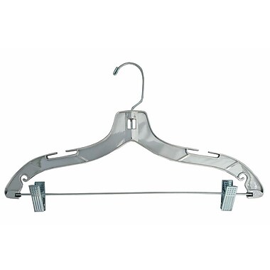 Plastic Heavy Weight Suit Hanger, Gold Hook, Silver