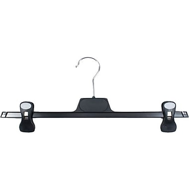 Pant Hanger With Cushion Grip Clips, Chrome Hook, 15 1/4
